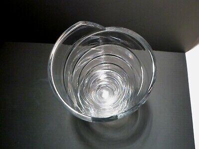 "Rare *VINTAGE* Atlantis Crystal AZTEC Flower Vase 11 3/4"" 3"