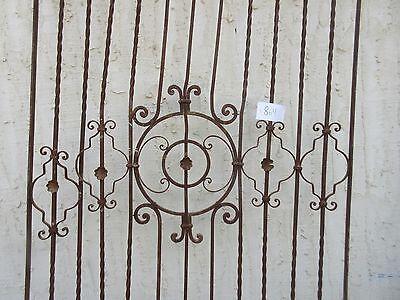 Antique Victorian Iron Gate Window Garden Fence Architectural Salvage #864 5