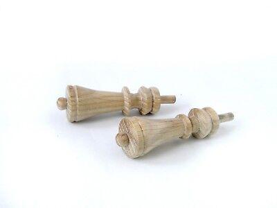 Wood Finials For Ansonia Triumph, F Kroeber Occidental Clock, 6 pieces 6