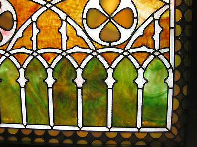 VICTORIAN STAINED GLASS  WINDOW  ca. 1880s 3