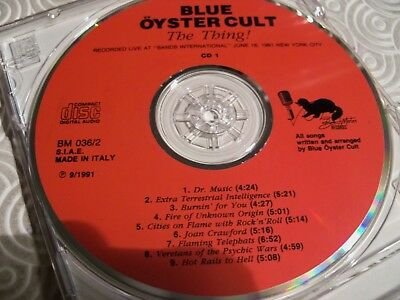 """Blue Oyster Cult """"The Thing !"""" Double Cd Fat Jewel Case Live In Nyc 1981 Bm036/2 3"""