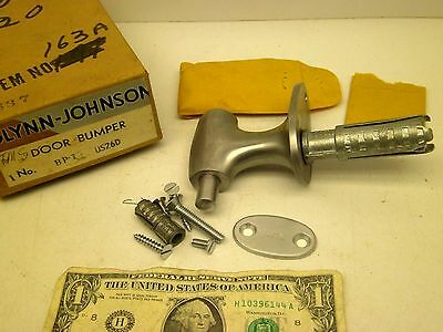 VINTAGE Glynn-Johnson COMMERCIAL DOOR BUMPER STAINLESS ORIG BOX W/HARDWARE BB 2