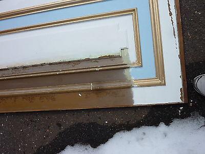 "circa 1902 painted pine WAINSCOT paneling raised panels 27/28"" x 27, 55, 61 & 72 6"