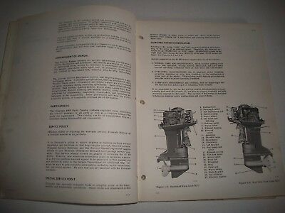 1969 Evinrude  Starflite  85 Hp Outboard Shop Service Repair Manual