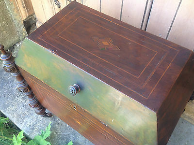Antique Early 19th Century Inlaid Mahogany Sarcophagus Shaped Wine Cellarette 10