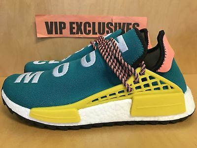 Details about Adidas NMD Human Race Trail Pharrell Williams Sun Glow Hu Clouds Teal AC7188