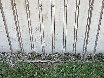 Antique Victorian Iron Gate Window Garden Fence Architectural Salvage Door #611