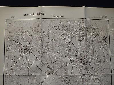 Landkarte Meßtischblatt 3855 Tammendorf i.d. Neumark, Weststernberg Crossen 1938