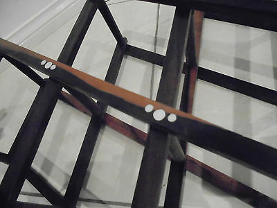 2 x Retro Wooden Wine Rack Brown in colour Expandable folding wine racks 6