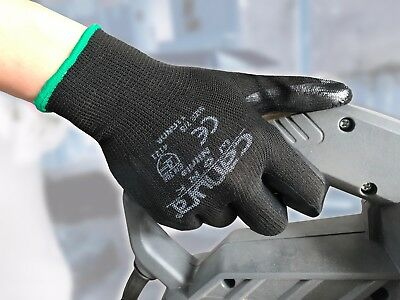12 24 Pairs Work Gloves Nitrile Coated General Purpose Garden Hand Protection 3