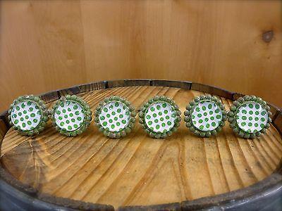 6 GREEN SUN FLOWER GLASS DRAWER CABINET PULLS KNOBS VINTAGE chic garden hardware 2