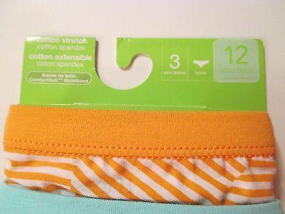 NWT Girls HANES PREMIUM Size 12 Striped Bikinis Underwear Panties~3 Pairs 6