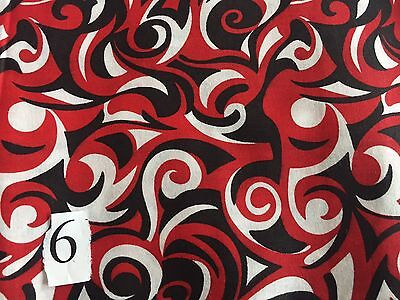 printed fabric 5 yard pieces fabrics red black white blue dots and
