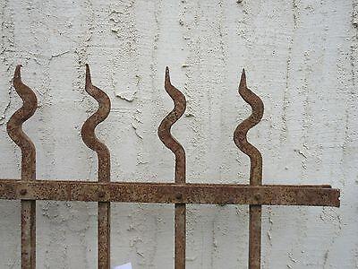 Antique Victorian Iron Gate Window Garden Fence Architectural Salvage Door #710 7