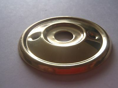 A RE-PLACEMENT BRASS DOOR KNOB BACK PLATE / ROSE 52 mm DIAMETER RIM LOCK ETC. 3