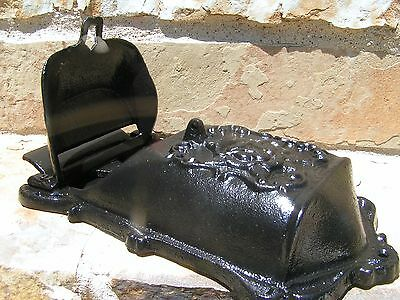 Cast Iron Reproduction mailbox suggestion box Black Victorian style 6