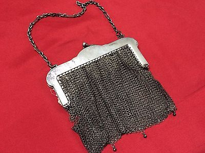 Antique Greek Pewter Womens Purse Alpacca Handbag Ladies Greece Grecia Peltro 5