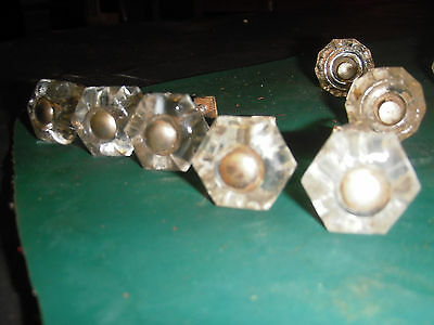 Vintage Glass Knobs--11 In All 3