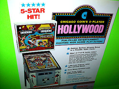 1976 Chicago Coin Hollywood Pinball Machine Rubber Ring Kit
