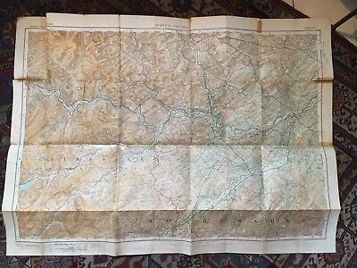 "Ordance Survey Map Tourist Map Of Scott's Country Scotland 1"" to 1 Mile 5"