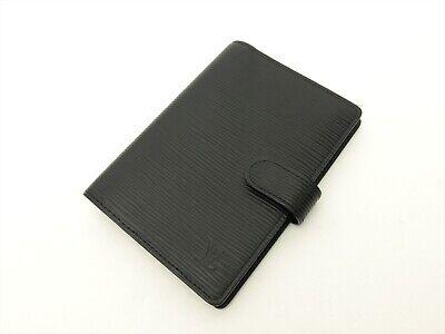 Louis Vuitton Authentic Epi Leather Black Agenda fonctionnel PM Diary cover Auth 2