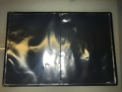 Top Quality Pu Guest Information  Pvc Folder With 10 Pockets Ref Black/Gold 3