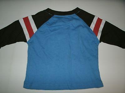 Oshkosh Boy's T-Shirt Long Sleeve Blue Brown Orange Size 3 Months New 7