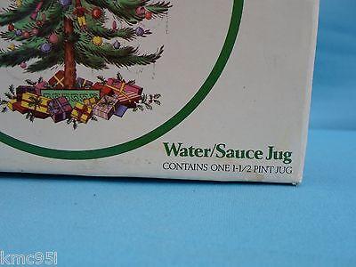 Spode Christmas Tree Water Sauce Jug 1-1/2 Pint with Original Box 2