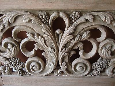 French Carved Outdoor Window Beautiful Detail 4