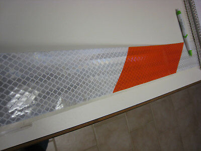 """3M BRAND WHITE Silver  Reflective  Conspicuity  Tape 6/"""" x 50  feet  EGP"""