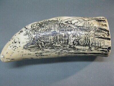 2 x Walross Zahn Nachbau 8 cm  Seefahrer Walrosszahn  Walzahn altes Degelschiff