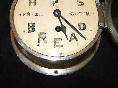 Ship Style Chrome HOVIS BREAD PRIZE CLOCK Advertising Clock BRAVINGTONS LONDON 12