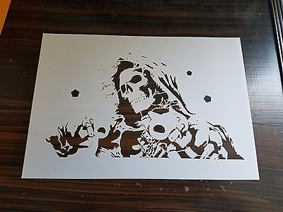 EURO 7 STAGE Gskull Multi Layer Step By Step Airbrush Laser Cut Stencil  Template