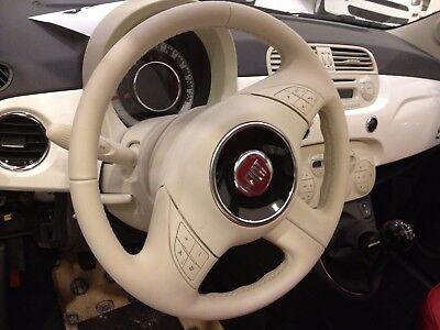 Kit Ritocco Colore Volante Avorio Fiat 500 Tonico Pelle Rinnovo Interni Pop 08