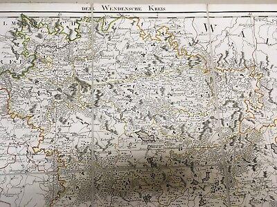 Imperial Russia / Livland/Latvia/Estonia/ Der Wendensche Kreis 1798 /ORIGINAL! 5