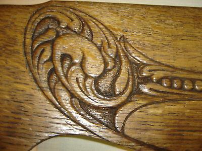Oak Pediment, Chair Top Part, Decorative Architectural Wall Hanging Crown 6670g 4