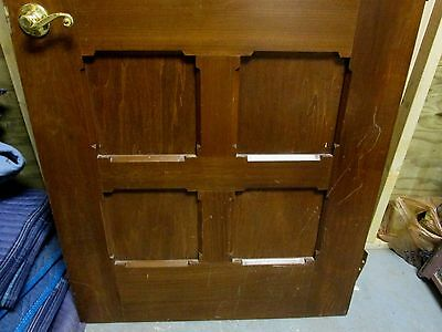 Exterior / Interior Solid Wood Door W/ Bevel & Textured Glass # 43 Fine Vintage 5
