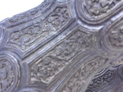 Pr.  18th/19th Century Persian Islamic Embossed Bronze Metal Vases/Urns 2