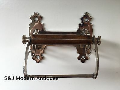 Unusual Toilet Roll Holder Chrome Novelty Vintage Victorian Silver Shabby Chic 6