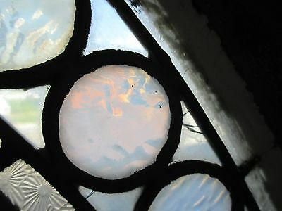 ~ GREAT ANTIQUE AMERICAN STAINED GLASS WINDOWS FLOWERS ~ 44 x 25 ~ SALVAGE 7