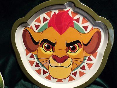 2 of 4 Disney Lion King Lion Guard Childu0027s Dinner Ware Set 4 Plate  Fork Spoon & DISNEY LION KING Lion Guard Childu0027s Dinner Ware Set 4 Plate  Fork ...