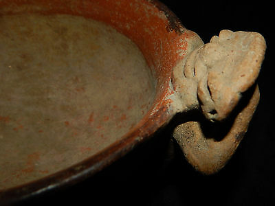 Pre-Columbian Polychrome Bowl with Seated Figure, Authentic, Costa Rica 11