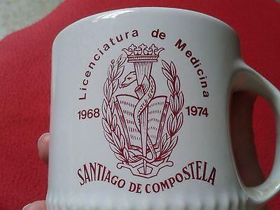 Jarra Taza Licenciatura De Medicina Años 1968 1974 Santiago Compostela Vitrosan