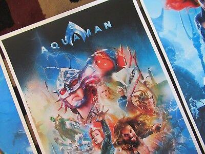 "AQUAMAN ( 11"" X 17"" ) Movie Collector's Poster Prints -( Set of 3 ) 5"