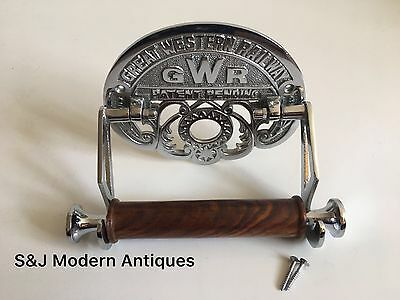 Victorian Toilet Roll Holder Novelty Chrome Unusual GWR Vintage Design Silver 11