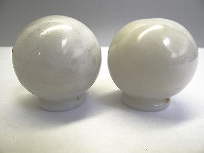 Antique White Glass Architectural Decorative Finial Pieces Balls Accent Parts 9