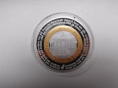 Münze Medaille 25 Jahre Mauerfall 40 Mm 32 G Eur 850 Picclick De