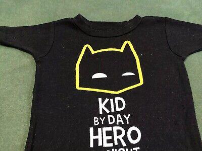 Unisex BATMAN child's kids 18 month T-shirt Kid by day Hero by night Shirt Top P 4