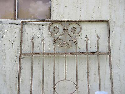 Antique Victorian Iron Gate Window Garden Fence Architectural Salvage #869 2
