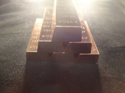 COPPER BAR 1 POUND-TRAPAZOID -SALE- Premium Bars- RANDOM DESIGN  STACKABLE-INGOT 8